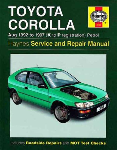 92 Toyota Corolla Sr5 Repair Manual
