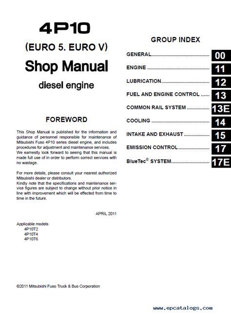 93 Mitsubishi Canter Workshop Manual