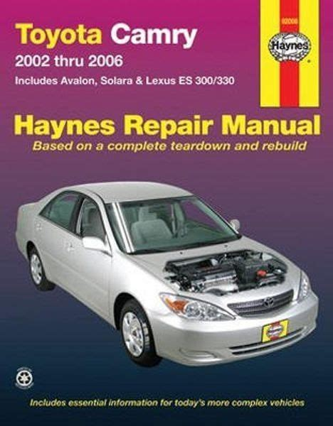 93 Toyota Camry Owners Manual