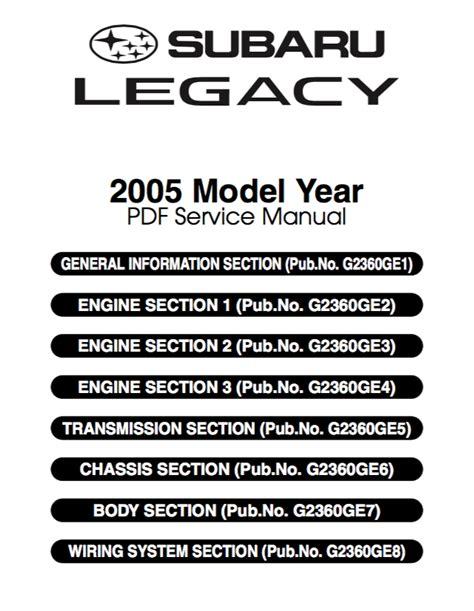96 Subaru Legacy Repair Manual