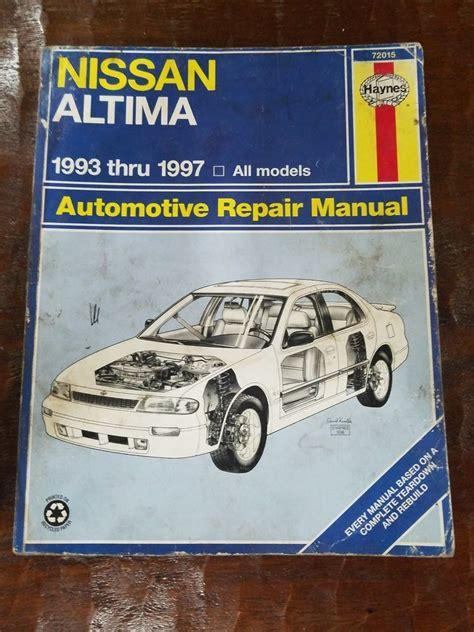 97 Nissan Altima Shop Manual