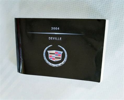 99 Cadillac Deville Owners Manual