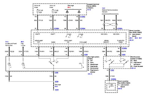 99 Ford Mustang Headlight Wiring Diagram