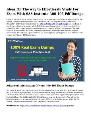A00-405 PDF Demo