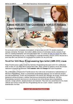 A00-420 Latest Exam Materials