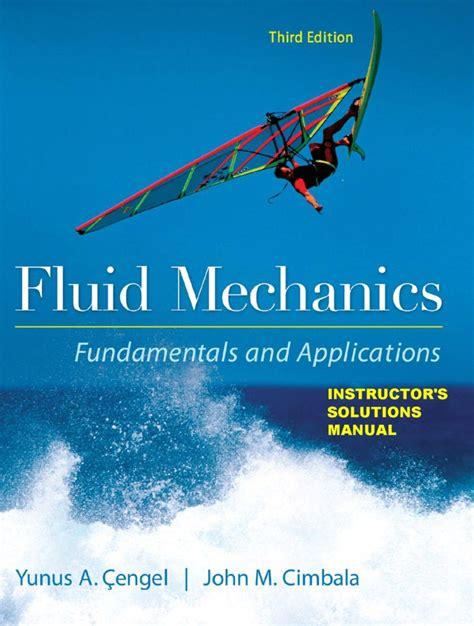 A305 Fluid Mechanics Cengel Solutions Manual