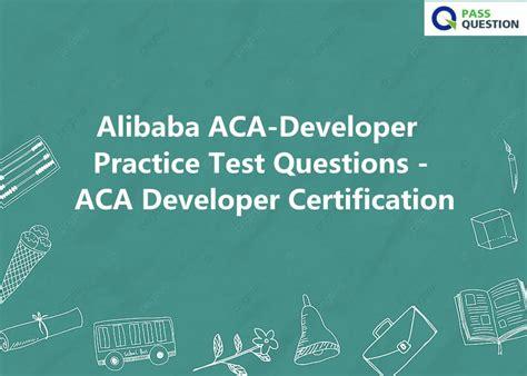 ACA-Developer Exam Fragen