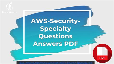 AWS-Security-Specialty Real Dump