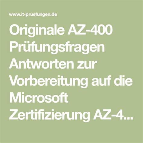 AZ-400 Deutsche Prüfungsfragen