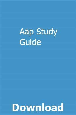 Aap Study Guide