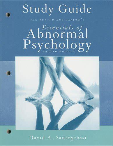 Abnormal Psychology Barlow Study Guide
