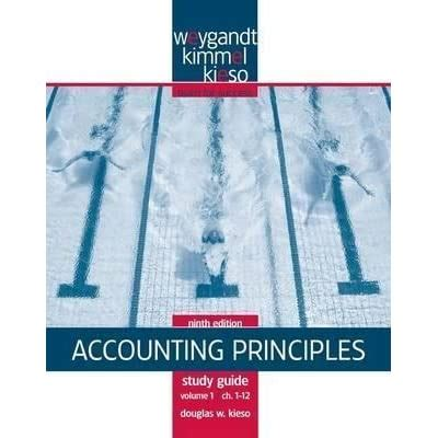 Accounting Principles Study Guide Volume I Chapters 1 12