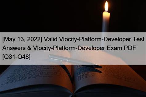Accurate Vlocity-Platform-Developer Answers