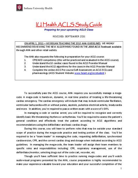 Acls Study Guide Iu