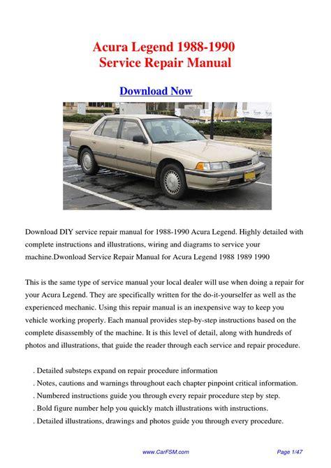 Acura Legend Repair Guide