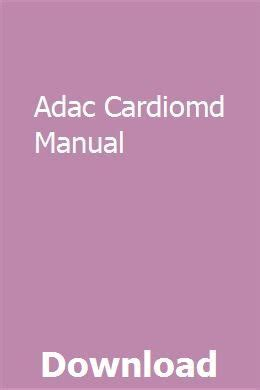 Adac Cardiomd Manual