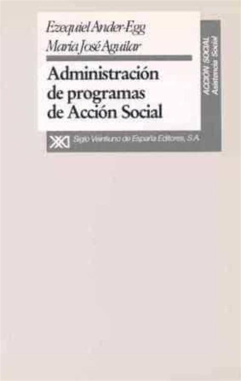 Administracion Programas De Accion Social