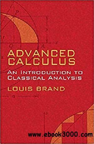 Advanced Calculus An Introduction To Classical Analysis Dover Books On Mathematics