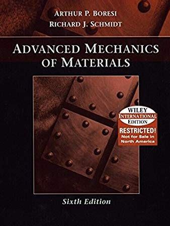 Advanced Mechanics Of Materials Solution Manual Boresi