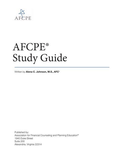 Afcpe Study Guide