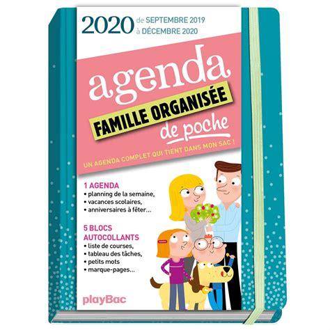 Agenda De Poche De La Famille Organisee 2020 Bleu De Sept 2019 A Decembre 2020 S Organiser N A Jamais Ete Aussi Simple