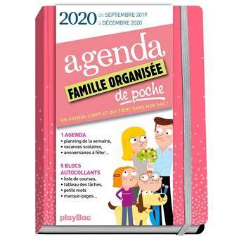 Agenda De Poche De La Famille Organisee 2020 Rose De Sept 2019 A Decembre 2020 S Organiser N A Jamais Ete Aussi Simple