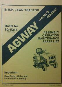 Agway Riding Mower Parts Manual