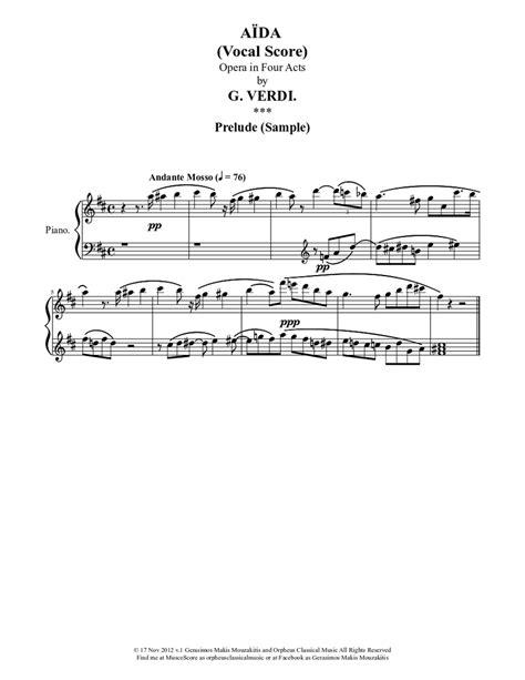 Aida, Opera in Four Acts: Vocal score