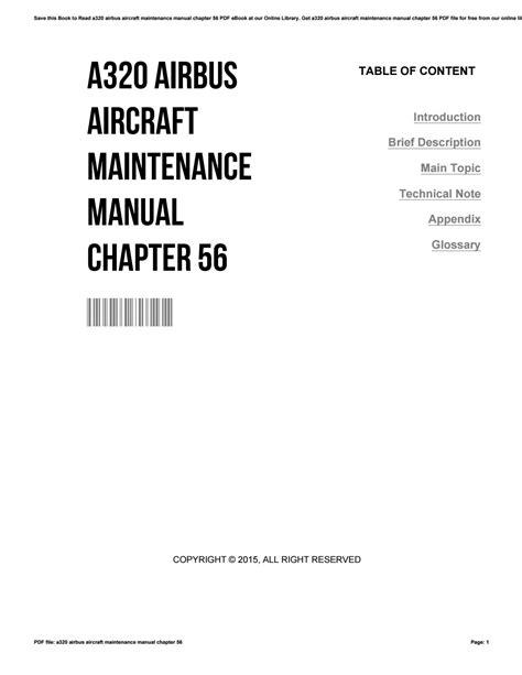 Airbus A320 Engine Overhaul Manual