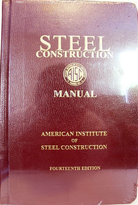 Aisc Manual Of Steel Construction 14th Edition