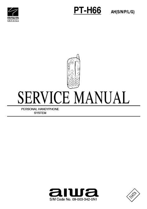 Aiwa Pt H66 Service Manual