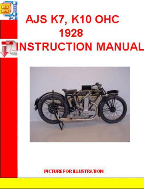 Ajs K7 K10 1928 Instruction Manual