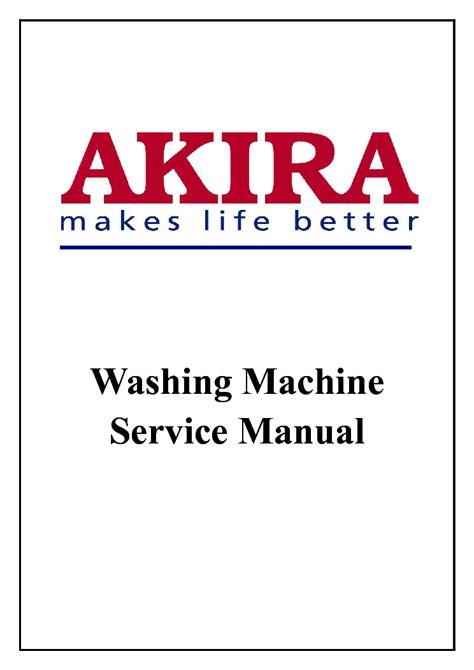 Akira Washing Machine Manual
