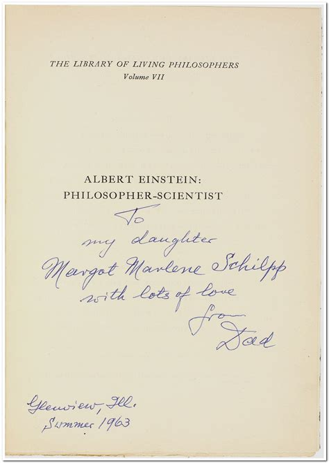 Albert Einstein Philosopher Scientist Edited By Paul Arthur Schilpp