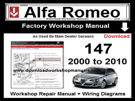 Alfa Romeo 147 2005 Workshop Service Repair Manual
