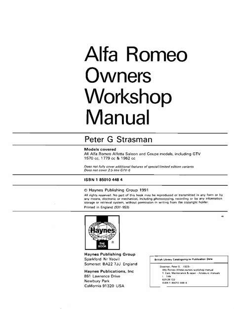 Alfa Romeo Alfetta 1973 1987 Factory Service Repair Manual
