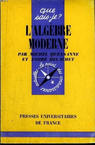 Algèbre moderne