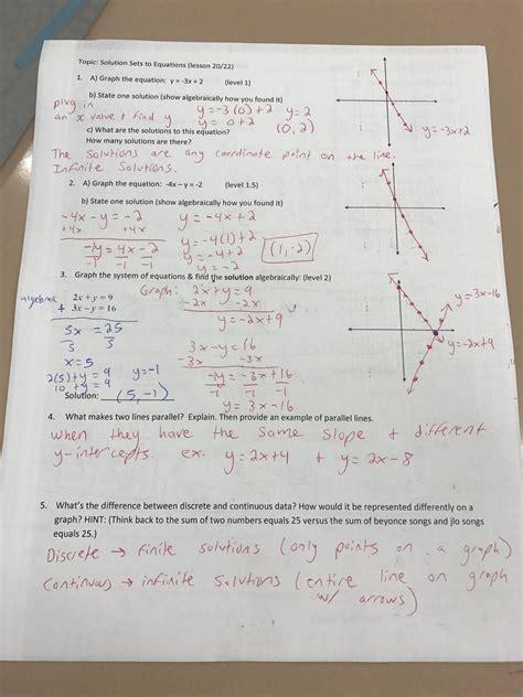 Algebra 1 Ccse Workbook Answer Key