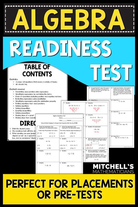 Algebra Readiness Test Study Guide