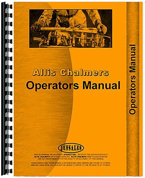 Allis Chalmers G Farm Implements Manual