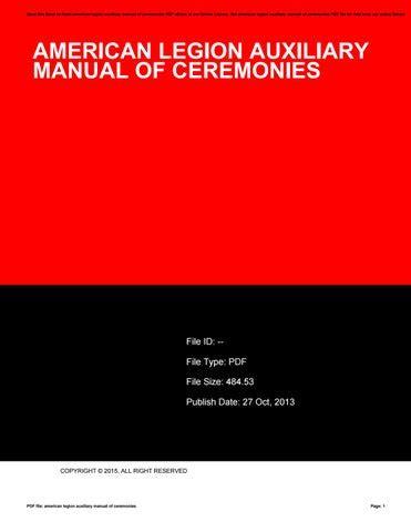 American Legion Compliance Manual