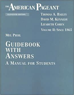American Pageant Guidebook Answers Online