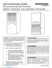 American Standard Silver Furnace Manual