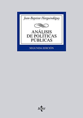 Analisis De Politicas Publicas Derecho Biblioteca Universitaria De Editorial Tecnos