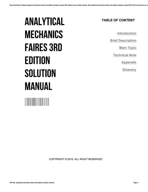 Analytical Mechanics Solution Manual