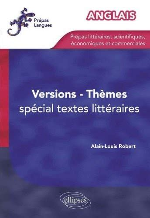 Anglais Themes Versions Entrainement Special Textes Litteraires Pour Prepas