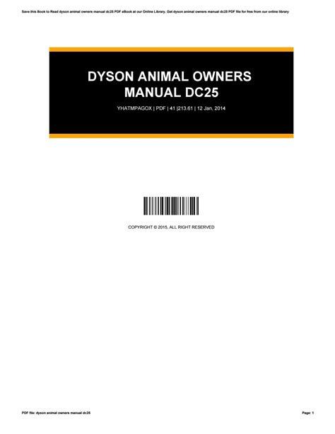 Animal Owner Manual