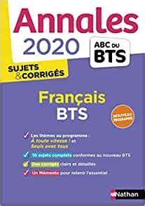 Annales Abc Du Bts 2020 Francais