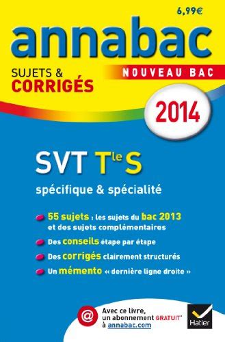 Annales Annabac 2013 Svt Tle S Specifique And Specialite Sujets Et Corriges Du Bac Terminale S