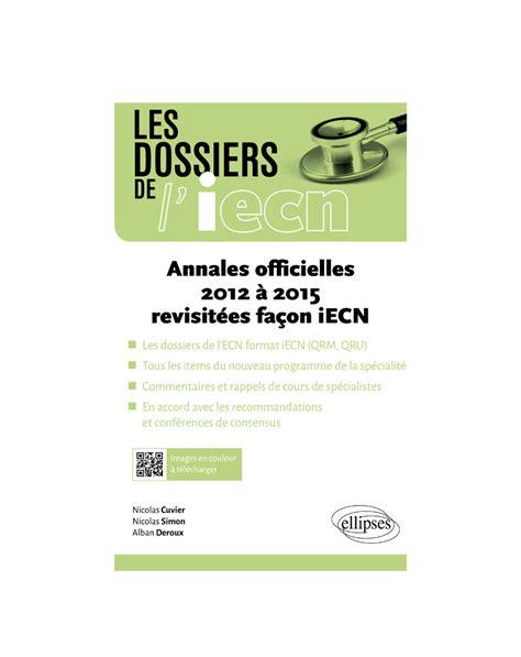 Annales Officielles 2012 A 2015 Revisitees Facon Iecn
